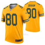 Camiseta NFL Legend Green Bay Packers Jimmy Graham Inverted Oro