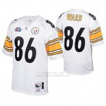 Camiseta NFL Limited Hombre Pittsburgh Steelers 86 Hines Ward 2005 Autentico Blanco