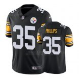 Camiseta NFL Limited Hombre Pittsburgh Steelers Dashaun Phillips Negro Vapor Untouchable Throwback