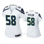 Camiseta NFL Game Mujer Seattle Seahawks 58 Darrell Taylor Blanco