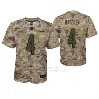 Camiseta NFL Game Nino San Diego Chargers Michael Badgley Camuflaje 2018 Salute To Service