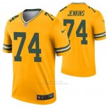 Camiseta NFL Legend Green Bay Packers Elgton Jenkins Inverted Oro