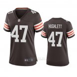 Camiseta NFL Game Mujer Cleveland Browns Charley Hughlett 2020 Marron