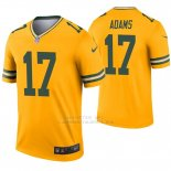 Camiseta NFL Legend Hombre Verde Bay Packers 17 Davante Adams Inverted Oro