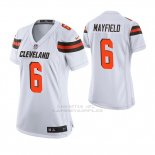 Camiseta NFL Game Mujer Cleveland Browns Baker Mayfield Blanco