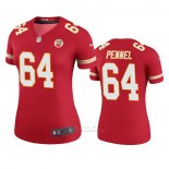 Camiseta NFL Legend Mujer Kansas City Chiefs Mike Pennel Rojo Color Rush