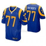 Camiseta NFL Game Hombre St Louis Rams Andrew Whitworth Azul Amarillo