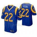 Camiseta NFL Game Hombre St Louis Rams Marcus Peters Azul Amarillo