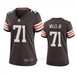 Camiseta NFL Game Mujer Cleveland Browns Jedrick Wills Marron