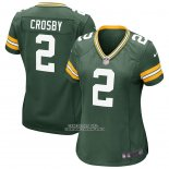 Camiseta NFL Game Mujer Green Bay Packers Mason Crosby Verde