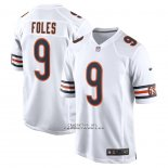 Camiseta NFL Game Chicago Bears Nick Foles 9 Blanco