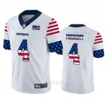 Camiseta NFL Limited Dallas Cowboys Dak Prescott Independence Day Blanco