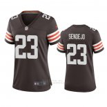 Camiseta NFL Game Mujer Cleveland Browns Andrew Sendejo Marron
