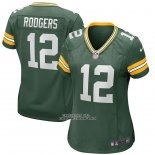 Camiseta NFL Game Mujer Green Bay Packers Aaron Rodgers Verde