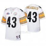 Camiseta NFL Limited Hombre Pittsburgh Steelers 43 Troy Polamalu 2005 Autentico Blanco