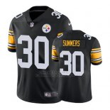 Camiseta NFL Limited Hombre Pittsburgh Steelers Jamar Summers Negro Vapor Untouchable Throwback