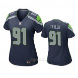 Camiseta NFL Game Mujer Seattle Seahawks Darrell Taylor Azul