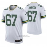 Camiseta NFL Legend Green Bay Packers 67 Jake Hanson 2020 Blanco Color Rush