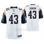 Camiseta NFL Game Hombre St Louis Rams John Johnson Blanco