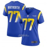 Camiseta NFL Game Mujer Los Angles Rams Andrew Whitworth Azul