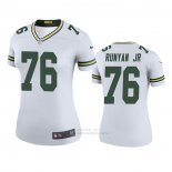 Camiseta NFL Legend Mujer Green Bay Packers Jon Runyan Jr. Blanco Color Rush
