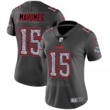 Camiseta NFL Limited Mujer Kansas City Chiefs Mahomes Static Fashion Gris