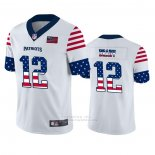 Camiseta NFL Limited New England Patriots Tom Brady Independence Day Blanco