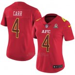 Camiseta AFC Carr Rojo 2017 Pro Bowl NFL Mujer