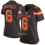 Camiseta NFL Game Mujer Cleveland Browns Baker Mayfield Marron2