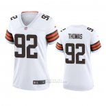 Camiseta NFL Game Mujer Cleveland Browns Chad Thomas 2020 Blanco