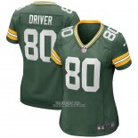 Camiseta NFL Game Mujer Green Bay Packers Donald Driver Retired Verde