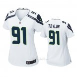 Camiseta NFL Game Mujer Seattle Seahawks Darrell Taylor Blanco