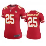 Camiseta NFL Legend Mujer Kansas City Chiefs Clyde Edwards Helaire Rojo Color Rush