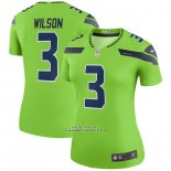 Camiseta NFL Legend Mujer Seattle Seahawks Russell Wilson Verde Color Rush