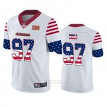 Camiseta NFL Limited San Francisco 49ers Nick Bosa Independence Day Blanco