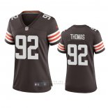 Camiseta NFL Game Mujer Cleveland Browns Chad Thomas 2020 Marron