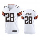 Camiseta NFL Game Mujer Cleveland Browns Kevin Johnson Blanco