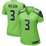 Camiseta NFL Game Mujer Seattle Seahawks Russell Wilson Alterno Verde