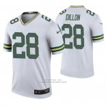 Camiseta NFL Legend Green Bay Packers 28 Aj Dillon 2020 Blanco Color Rush