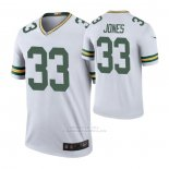 Camiseta NFL Legend Green Bay Packers 33 Aaron Jones Color Rush Blanco