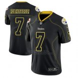 Camiseta NFL Limited Hombre Pittsburgh Steelers Ben Roethlisberger Negro Color Rush 2018 Lights Out