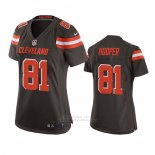 Camiseta NFL Game Mujer Cleveland Browns Austin Hooper Marron