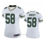 Camiseta NFL Legend Mujer Green Bay Packers Christian Kirksey Blanco Color Rush